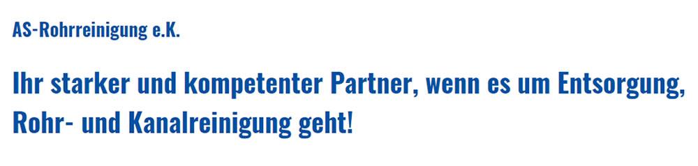 Rohr, Kanalreinigung Lübeck - AS-Rohrreinigung e.K.: 24h Rohr Service, Hochdruckspülungen, Dichtheitsüberprüfung, TV Inspektionen, Leitungsortung, Saugarbeiten