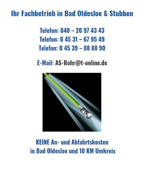 Kanalreinigung aus  Bad Oldesloe - Rögen, Schadehorn, Seefeld, Altfresenburg, Rethwischfeld, Rethwischhof und Rethwischhöhe, Rethwischmühle, Ritzen
