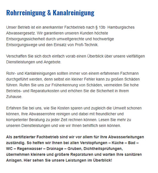 Rohrreinigung in  Lübeck, Stockelsdorf, Bad Schwartau, Badendorf, Lüdersdorf, Krummesse, Wesenberg und Hamberge, Groß Grönau, Mönkhagen